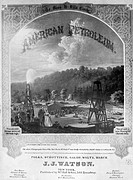 AMERICAN PETROLEUM, c1862.American sheet music cover for compositions of dance music, inspired by the discovery of petroleum at Oil Creek, Pennsylvani...