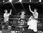THEATER: MY THREE ANGELS.Scene from the original Broadway production, 1953, of the comedy 'My Three Angels' by Samuel and Bella Spewack.