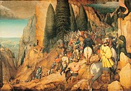 The Conversion of St Paul, by Bruegel Pieter il Vecchio, 1567, 16th Century, oil on panel