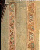 Plant Rinceau Frieze and Figures of Angels, by Venetian Artist, 14th Century, fresco