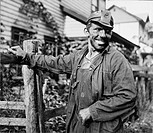 COAL MINER, 1938.A Polish-American coal miner in Capels, West Virginia. Photograph by Marion Post Wolcott, 1938.