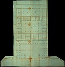 Layout/plan/design of a Medicean Palace on Piazza Navona, Rome, by Giamberti Giaberti Giuliano known as Giuliano da Sangallo, 1513 _ 1513, 16th Centur...
