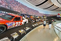 Interior of Nascar Hall of Fame in Charlotte North Carolina