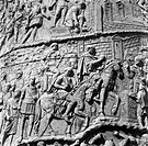 ROME: TRAJAN'S COLUMN.Detail from Trajan's Column in Rome, completed in 113 A.D., depicting scenes of Emperor Trajan and his legions from their victor...