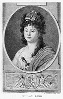 MADEMOISELLE MAILLARD.French opera singer and dancer who was crowned the Goddess of Reason at the Feast of Reason, celebrating the abolition of the Ro...