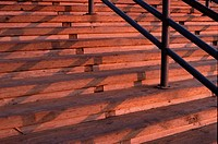 Wooden Steps In Evening Light