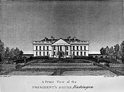 D.C.: WHITE HOUSE, 1820.The White House in Washington, D.C. Engraving after a drawing by George Catlin, 1820.