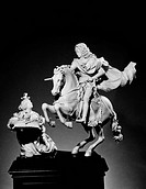 Holy Roman Emperor, 1711_1740, and King of Hungary as Charles III, 1712_1740. Charles VI on horseback, receiving his imperial crown. Ivory statuette, ...