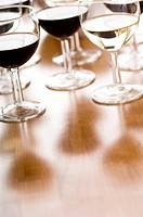 Close_up of glasses of wine