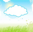 background with grass anf sky