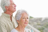 Close_up of a senior couple at a balcony