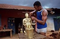 BRONZE CASTORS, NIGERIA. Benin City. .