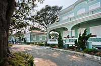 China, Macau, Taipa Island, Taipa House Museum, view of the Macanese House and the House of the Islands, two of five former colonial residences for hi...