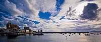 Clouds over bay, Castro Urdiales, Cantabria, Spain