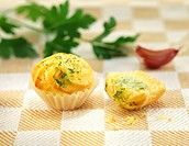Cod and parsley cup cakes