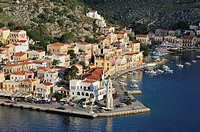 Symi  Dodecanese Islands  Greece  Gialos Harbour