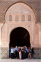 Guide with Tourists, Medersa Ali Ben Youssef, Marrakech, Morocco