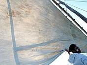Sailing in the Bay of Antsiranana (former Diego-Suarez), Diana region, Madagascar, Indian Ocean