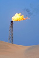 Gas Flaring In The Desert