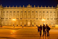 Facade of the Palacio Real, Royal Palace, Madrid, Spain, Iberian Peninsula, Europe