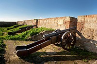Artillery battery in the wall of Ciudad Rodrigo. Salamanca. Castilla y León. Spain. Europe