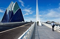 Agora building and Assut de l´Or bridge, City of Arts and Sciences, Valencia, Spain