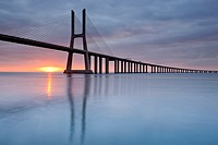 Vasco da Gama Bridge, Lisbon, Portugal, Europe