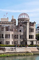 Hiroshima (Japan): the ruins of the 'Atomic bomb Dome', by the Motoyasu-gawa River
