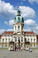 Schloss Charlottenburg in Berlin. Castle Schloss Charlottenburg in Berlin. Achtung: Nur zur redaktionellen Verwendung _ nicht für Werbung oder eine an...