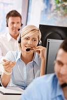 Portrait of customer service operator
