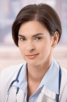 Portrait of attractive young female doctor