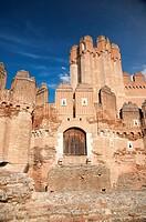 public free access big castle at coca city in spain