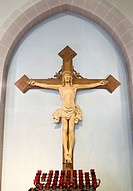 Figure of Jesus on Cross inside Church
