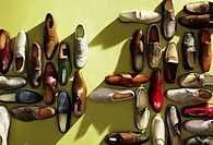 Large group of shoes