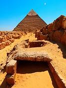 Pyramid of Khafre. Giza. Cairo. Egypt
