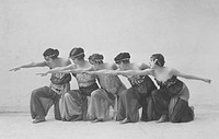 Young women dancing on stage
