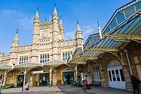 Bristol Temple Meads Rail Station, Bristol, Gloucestershire, England, UK