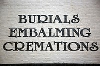 Burials, Embalmings, Cremations