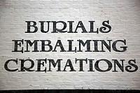 Burials, Embalmings, Cremations