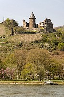 Germany, Rhineland-Palatinate, Rhine-valley, Bacharach, castle Stahleck
