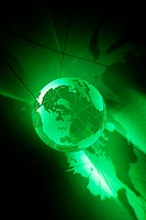 Close up of green globe