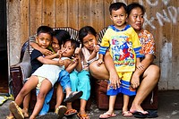 It is comon to see families living, and children playing on dangerously unsanitary illegal trash dumps on the resort island of Bali, Indonesia  Illnes...