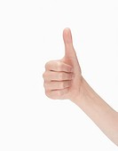 Woman´s hand doing thumbs up