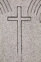Cross on headstone
