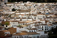 View of the white village of El Gastor, Cadiz province, Andalusia, Spain, april 25, 2011