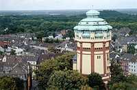 Germany - Industrial archaeology. Monchengladbach water tower.