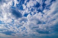 wide angle blue sky