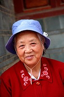 Portrait of a local lady  Town of Guandu  Kunming  China