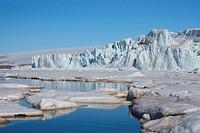 Svalbard, Spitsbergen, Arctic, Norway, Europe, polar region, ice, nature, landscape, island, isle, archipelago, Vesttfonna, glacier, glacier edge, edg...