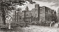Hatfield House, Hatfield, Hertfordshire, England in the late 19th century  From Our Own Country published 1898